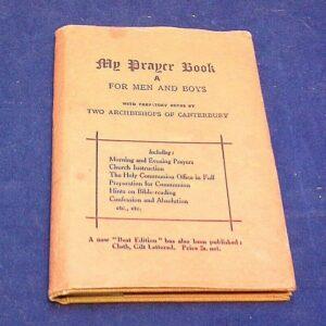 My Prayer Book A para hombres y niños, 1937, tamaño de bolsillo, libro HB con sobrecubierta