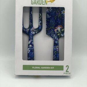 NUEVO Garden Party Kit de herramientas florales de 2 piezas Juegos de herramientas de jardín para el hogar Equipo Azul