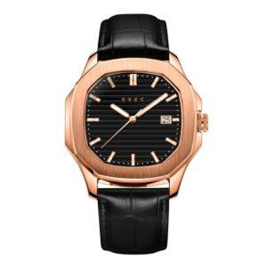 Nautilus 42 mm Homage Watch Relojes de vestir de lujo para hombres Relojes de cuero genuino de oro rosa