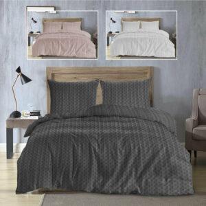 Nueva funda nórdica y fundas de almohada con edredón tipo gofre 100% algodón, juego de cama King doble