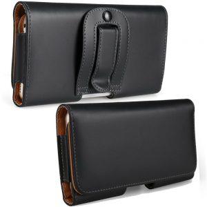 Nuevo Clip para cinturón Estuche para cadera Móviles Estuche / cubierta para teléfonos celulares Estuche universal de cuero PU