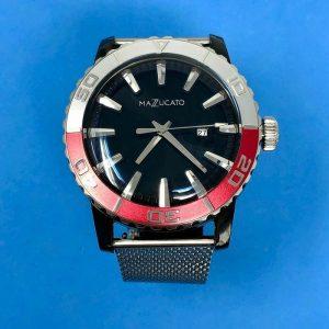 Nuevo reloj para hombre Mazzucato Ego Ego Tistic personalizable con bisel rojo