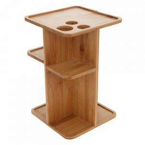 Organizador para accesorios de oficina, bambú, 18x18x28 cm