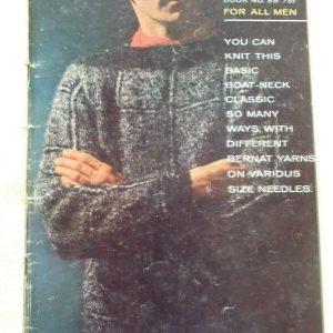 PARA TODOS LOS HOMBRES - BERNAT Libro No. 88 (1960) Diseños de tejido