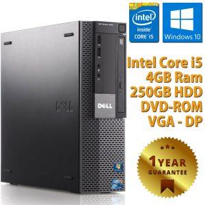 PC ORDENADOR DE ESCRITORIO FISSO DELL RICONDIZIONATO CORE i5-650 4GB 250GB WINDOWS 10