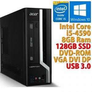 PC ORDENADOR DE ESCRITORIO RICONDIZIONATO ACER CORE i5-4590 RAM 8GB SSD 128GB WIN 10
