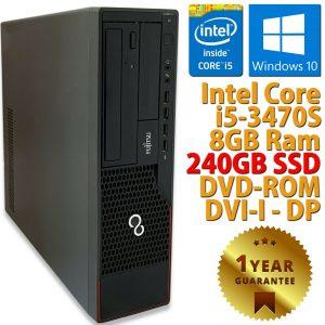 PC ORDENADOR DE ESCRITORIO RICONDIZIONATO E910 CORE i5-3470S RAM 8GB SSD 240GB WIN 10