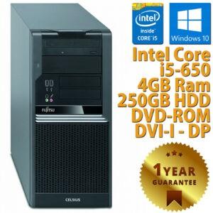 PC ORDENADOR DE ESCRITORIO RICONDIZIONATO FUJITSU W380 i5-650 RAM 4GB HDD 250GB WIN 10