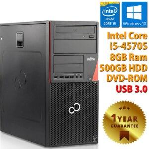PC ORDENADOR DE ESCRITORIO RICONDIZIONATO P720 CORE i5-4570S RAM 8GB HDD 500GB WIN 10