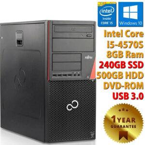 PC ORDENADOR DE ESCRITORIO RICONDIZIONATO i5-4570S 8GB SSD 240GB + HDD 500GB WINDOWS 10