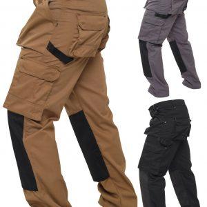 Pantalón cargo de trabajo para hombre, bolsillo con almohadilla para la rodilla, pantalón de trabajo al aire libre de combate resistente