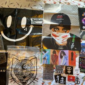Paquete Drop Dead / Cartel de lote / Postales / Pegatinas y embalaje