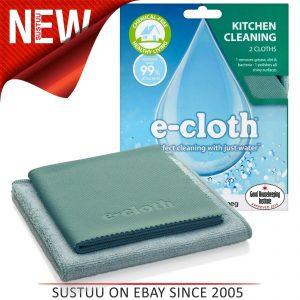 Paquete de cocina E-Cloth│Para limpiar electrodomésticos Encimeras y fregaderos de acero inoxidable