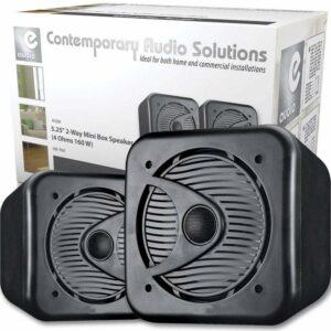 """Par de altavoces negros de 5 """"para estantería en ABS, sistema de cine en casa con sonido envolvente de alta fidelidad de 80 W"""