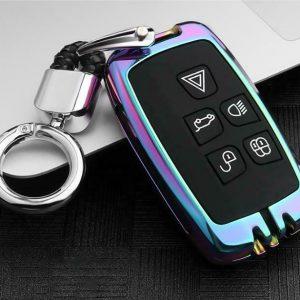 Para Land Rover Jaguar EVOQUE Discovery Car Key Case Cover Fob Holder Accesorios