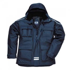 Portwest RS Multi Pocket Parka Abrigo impermeable Ropa de trabajo Chaqueta de invierno S563