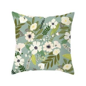Productos de oficina en casa cuadrados Impresión decorativa de flores de plantas de flores de piel de melocotón