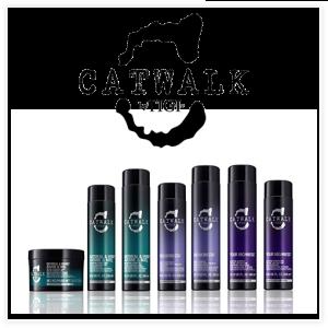 Productos de peinado y cuidado del cabello TIGI Catwalk: champús, acondicionadores, cremas, aerosoles