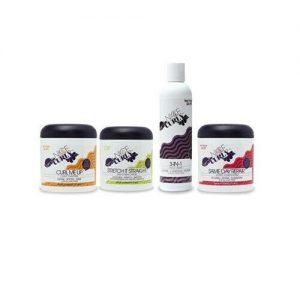 Productos para el cuidado del cabello bonitos y rizados