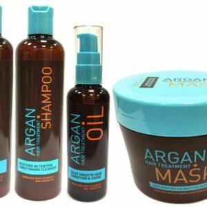 Productos para el cuidado del cabello con tratamiento capilar con argán