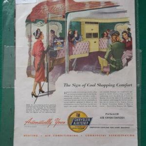 Pubblicità - ANNO 1947 AIRE ACONDICIONADO EMPAQUETADO CHRYSLER AIRTEMP