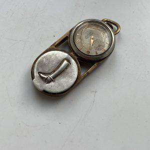 Raro Bijoux Poudrier Montre GUCCI argent Silver Watch Powder Mouvement OMÉGA?