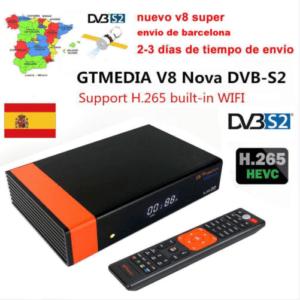 Receptor Satelital GTMedia V8 Nova (nuevo v8s) DVB S2 TV IPTV antena WIFI integrado