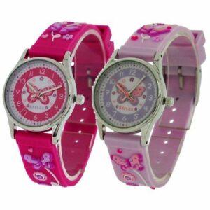 Reflex Girl's Kid's Pink, Lila 3D Butterfly Timeteacher Reloj
