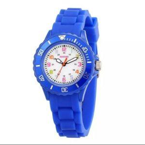 Reloj con números para niños, niños, niñas, resistente a la ducha, analógico, deportivo, silico, reloj de pulsera