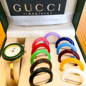 Reloj de bisel intercambiable de Gucci Cambio raro Vintage Excelente estado