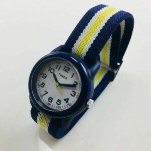 Reloj para niños Timex Time Machines con correa de nailon azul TW7C05800
