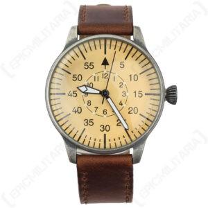 Reloj piloto de la Luftwaffe - Reloj de pulsera militar alemán de la Segunda Guerra Mundial Vintage con correa de cuero