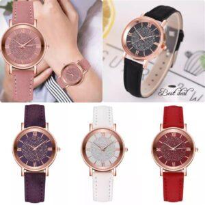 Relojes de pulsera para mujer Reloj analógico de cuarzo para mujer S Acero Cuero Casual Regalo Reino Unido