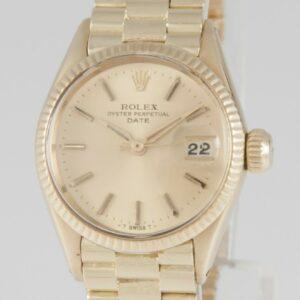 Rolex Date Yellow Gold 18k 24mm 1950's Calibre 1130 Ref: 6517