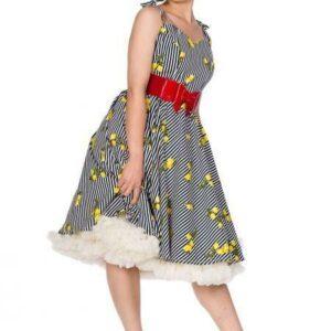 Ropa prohibida: vestido de rayas y limón