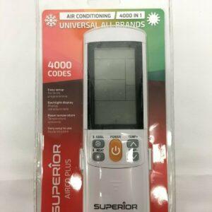 SUPERIOR AirCo PLUS Univeral Remote Control for Air Conditioners - 2000 Codes