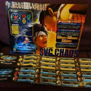 Snk vs capcom chaos neo geo neogeo mvs juego de arcade póster y pegatinas japonesas
