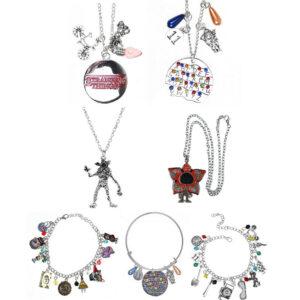 Stranger Things Necklace Bracelet Silver Demogorgon Pendant Cosplay Jewelry Gift