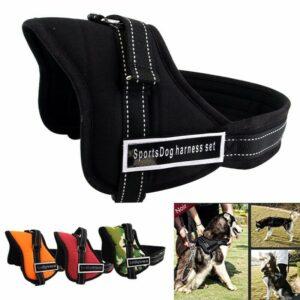 Suministros para mascotas Collar de perro Arnés Chaleco de nailon Cachorro que camina Correa de pecho sin tirón