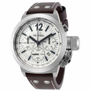 TW Steel CEO Canteen Reloj con correa de cuero con cronógrafo para hombre - CE1007 NUEVO
