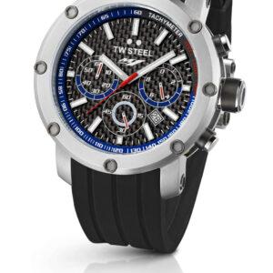 TW Steel TW924 Reloj cronógrafo Yamaha Factory para hombre de 45 mm con esfera negra y caucho