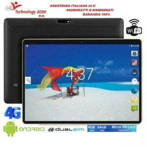 Tableta 10.1 Pollici SISTEMA ANDROID 4GB64GB QUADCORE DUALSIM 2PELLICOLE CAVODATI