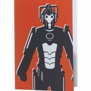 Tarjeta de felicitación de Doctor Who Cyberman Home - Rojo, Nuevos productos de oficina