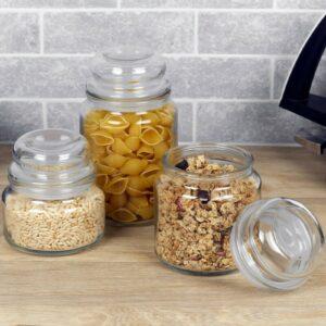 Tarro de almacenamiento de alimentos de dulces de vidrio transparente retro con tapa torcida Electrodomésticos de cocina