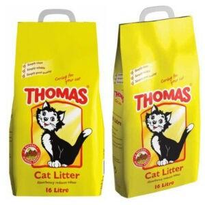Thomas Arena para gatos Suministros minerales naturales para mascotas Arena para gatos Limpieza de higiene 16LTR