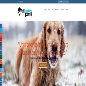 """Tienda web de suministros para mascotas con envío directo completamente surtido.  """"300 hits al día"""""""