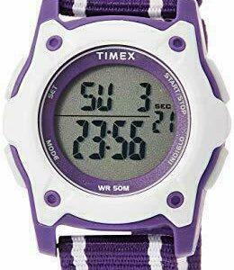 Timex TW7C26300, reloj para niños Time Machines, correa de nailon, Indiglo, alarma