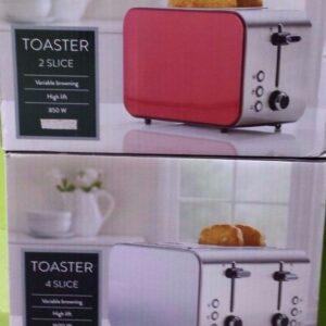 Tostadoras de dos y cuatro rebanadas, elección del color para combinar con los electrodomésticos de su cocina