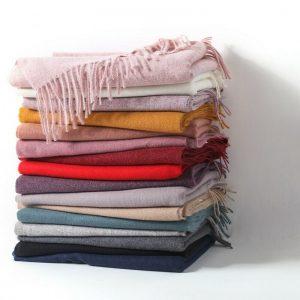 Últimas bufandas de pashmina lisas de moda superior Chales de calidad Comodidad garantizada Reino Unido