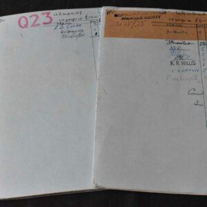 Uruguay en libros de aprobación, inicio de 99p, todas en la imagen